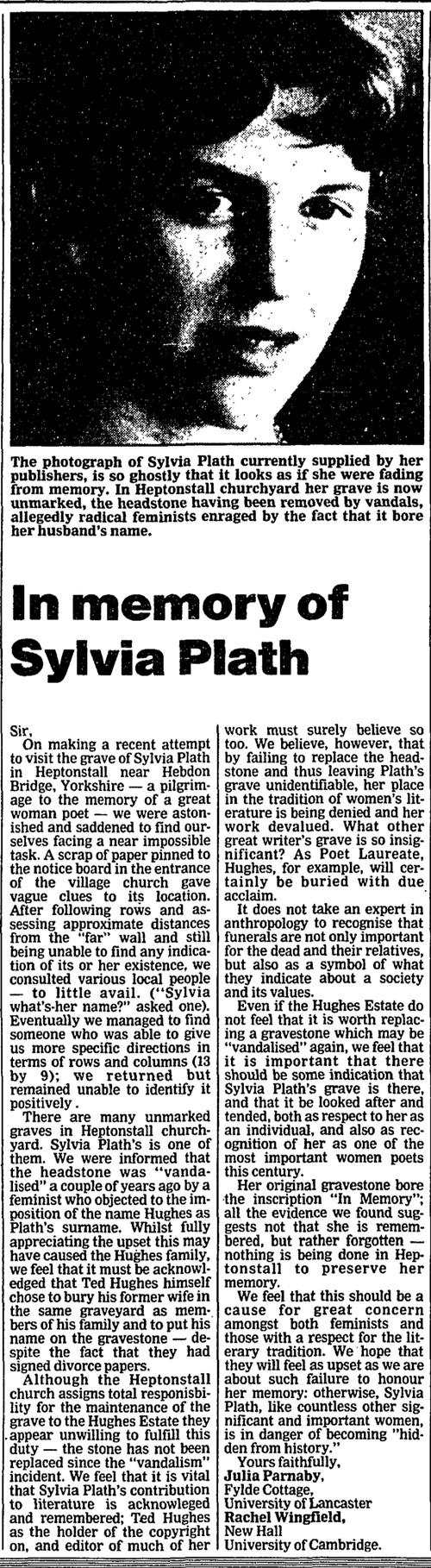 sylvia plath last words essay Comparing and contrasting two poems mirror and blackberrying by the author sylvia plath in this essay i shall be comparing and contrasting two poems by the author sylvia plath the two poems are 'blackberrying' and 'mirror' sylvia plath born in boston, massachusetts 1932 was the wife of another famous yet complicated poet ted hughes.