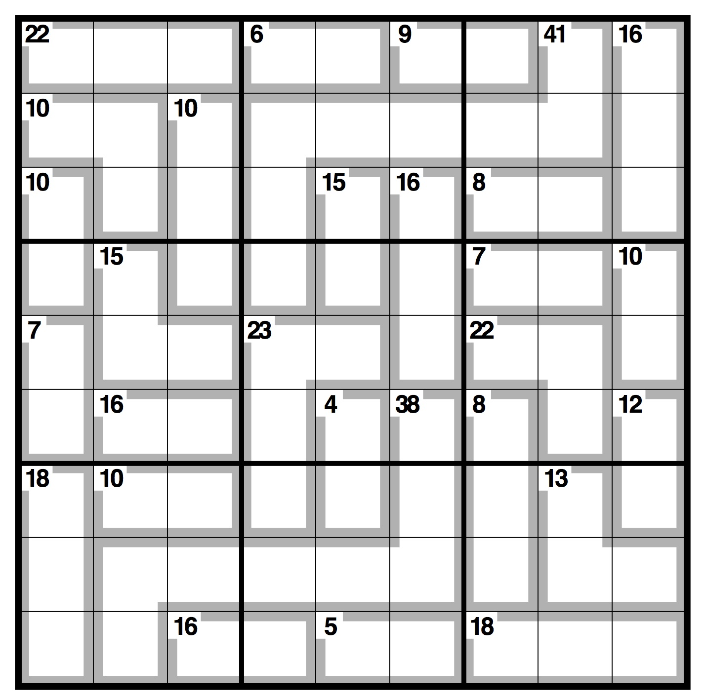 graphic relating to 16 Square Sudoku Printable named Observer killer sudoku Daily life and design The Father or mother