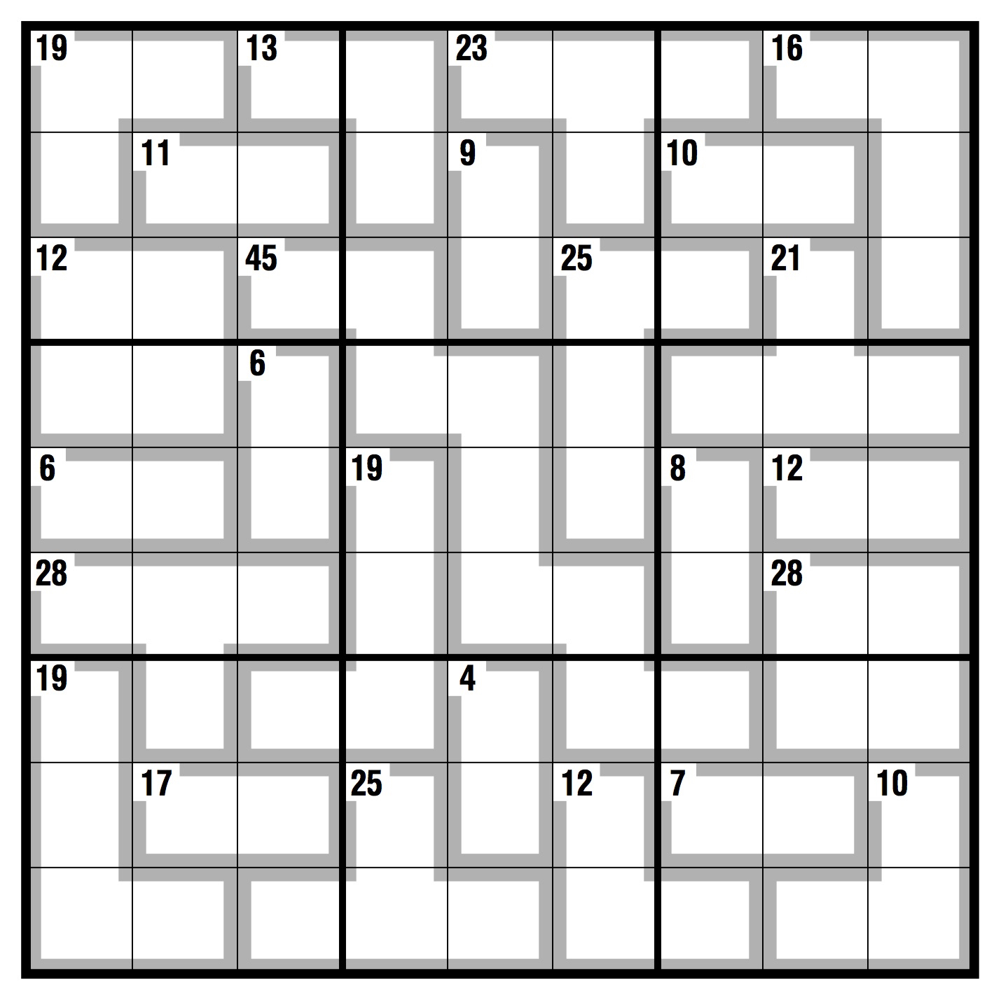 Uncategorized Blank Sudoku Worksheet observer killer sudoku life and style the guardian click here to access print version