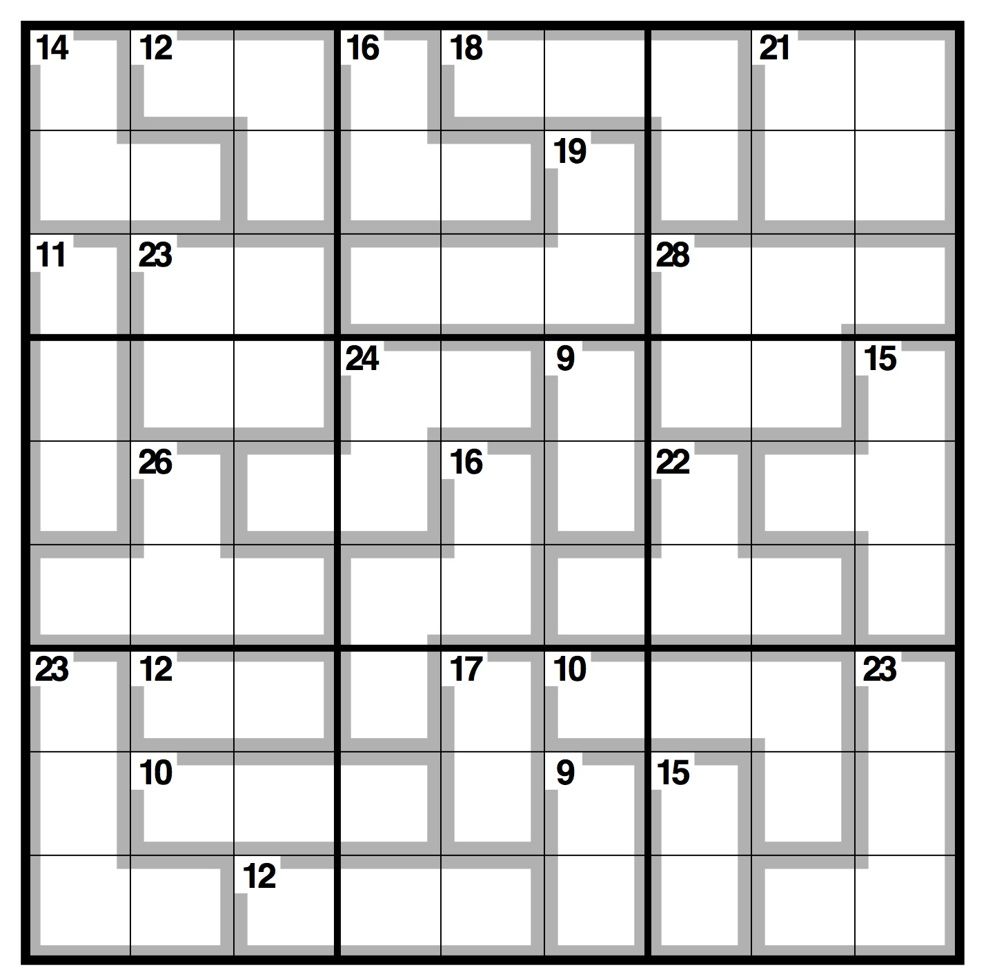 picture regarding Sudoku Blank Printable referred to as Observer killer sudoku Everyday living and structure The Dad or mum