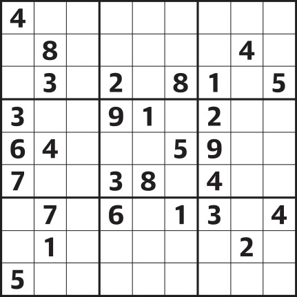 It is a photo of Eloquent Sudoku Medium Printable